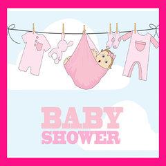 Babyshower roze