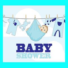 Babyshower blauw
