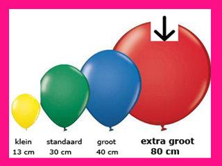 Extra groot, 65-80cm (3')