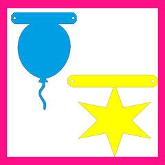 Ballonnen en sterren - tussenstukjes