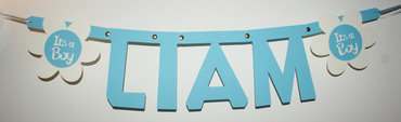 Geboorteslinger naam in lettertype Keystone