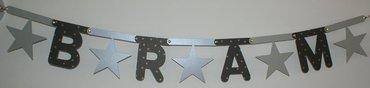 Naamslinger met sterren, lettertype Rond