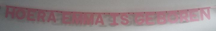 Naamslinger Geboorte in lettertype Rond