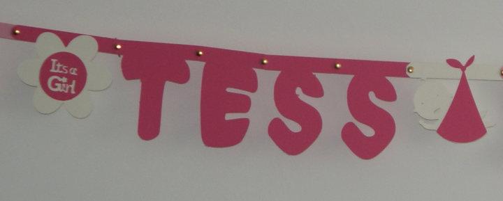 Geboorteslinger naam in lettertype Sesamstraat