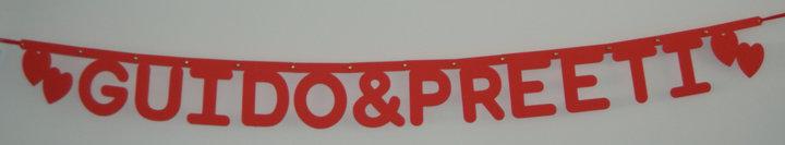 Naamslinger bruiloft, lettertype rond