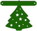 kerstboom voor tekstslinger