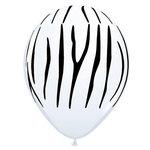 Zebra print ballonnen, 30cm