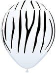 Ballonnen zebra print wit