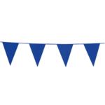 Vlaggenlijn blauw, 10 meter, plastic