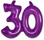 30-jaar-Opblaascijfer-Transparant-Paars