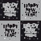 Servet-Happy-New-Year-25x25-cm-20-stuks