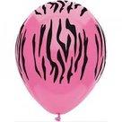 Ballon pink zebra print