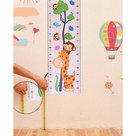 Sticker giraffe, aap en vogel