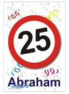 Raamsticker 25 halve Abraham