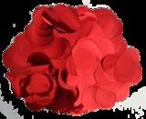 metallic confetti rood