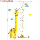 Groeimeter giraffe en aapjes