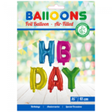 Folieballon letterset HBDAY