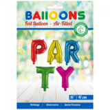 Folieballon letters PARTY