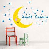 Muursticker maan sweet dreams