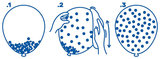 Confetti Goud Ballonnen, 5 stuks, 35cm_