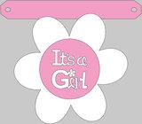 Geboorte slinger IT'S A GIRL met naam_