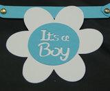 It's a boy tussenstukje geboorteslinger