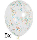 confetti ballonnen multicolor 30cm 5 st