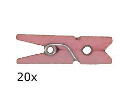 Roze Wasknijpers mini, 20 stuks
