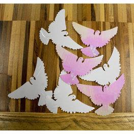 Iridescent XL Duifjes Tafeldecoratie sierconfetti, 14 gram