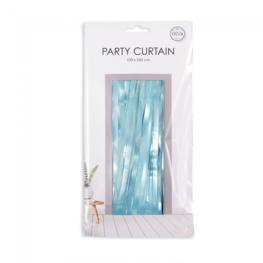 Blauw:baby blauw Party Deurgordijn, 240x100 cm