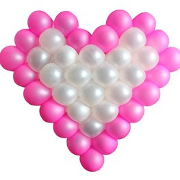 Hart frame voor 38 kleine ballonnen, afm. frame 60x60cm