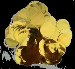 Goud metallic confetti XL, 14 gram