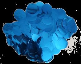 Blauw metallic confetti XL, 14 gram