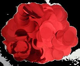 Rood metallic confetti XL, 14 gram