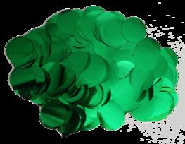 Groen metallic confetti XL, 14 gram