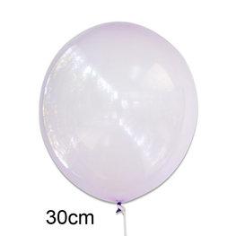 Paars crystal clear ballon (30cm)