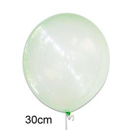 Groen crystal clear ballon (30cm)