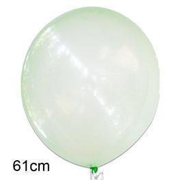 Groen crystal clear ballon, XL (61cm)
