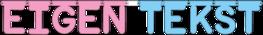 Geboorteslinger EIGEN TEKST, Rond lettertype