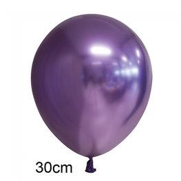 Paars Chrome ballon (30cm)
