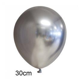 Zilver Chrome ballon (30cm)