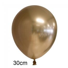 Goud Chrome ballon (30cm)