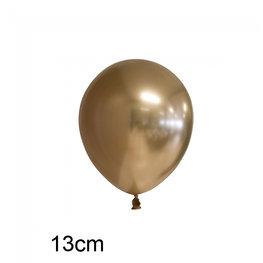 Goud Chrome kleine ballon (13cm)
