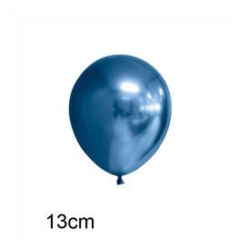 Blauw Chrome kleine ballon (13cm)