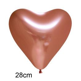 Koper Chrome Hart Ballon (28cm)
