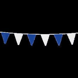 Blauw-wit, mini Vlaggenlijn, 3 meter