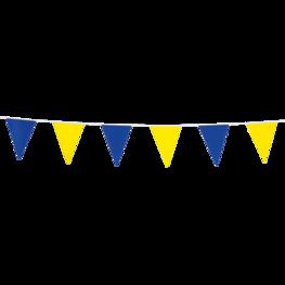 Blauw-geel, mini Vlaggenlijn, 3 meter