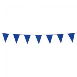 Blauw, mini Vlaggenlijn, 3 meter