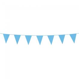Blauw:Lichtblauw, mini Vlaggenlijn, 3 meter