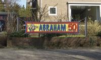 Straatbanner Abraham 180x40 cm